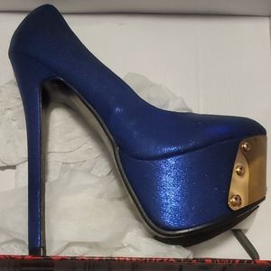 Shoes - ❤Stilettos blue shimmery❤